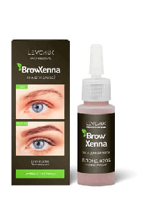 BrowHenna хна для бровей флакон #205 Темно-русый (BrowXenna®)