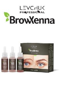 BrowHenna хна для бровей набор шатен (BrowXenna)